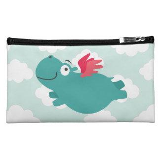Fliegen-Flusspferd-Illustration Makeup-Tasche