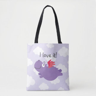 Fliegen-Flusspferd-Illustration Tasche
