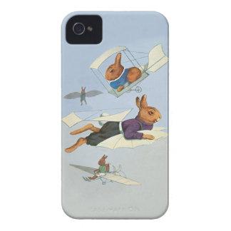 Fliegen-Häschen-Kaninchen - niedliches lustiges iPhone 4 Etuis