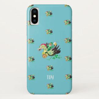 """""""Fliegen-Kobolde"""" St Patrick (erblassen Sie - iPhone X Hülle"""