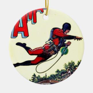 Fliegen-Mann Keramik Ornament