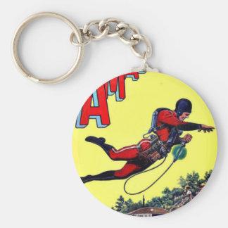 Fliegen-Mann Schlüsselanhänger