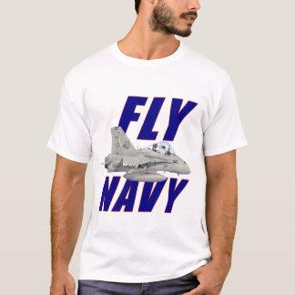 Fliegen-Marine-T-Shirt T-Shirt