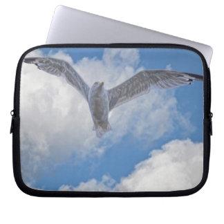 Fliegen-Möven-Vogel-wild lebende Tiere Birdlover Laptopschutzhülle