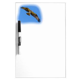 Fliegen Osprey mit einem Ziel im Anblick Memoboard