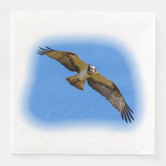 Fliegen Osprey mit einem Ziel im Anblick Servietten