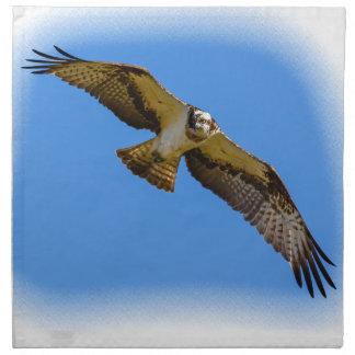 Fliegen Osprey mit einem Ziel im Anblick Stoffserviette