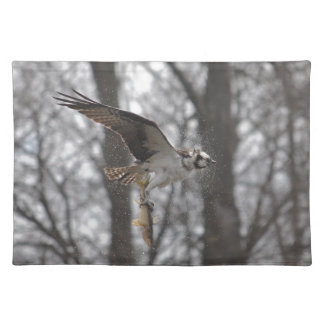 Fliegen-Osprey-u. Fisch-Tier-Foto-Szene Tischset