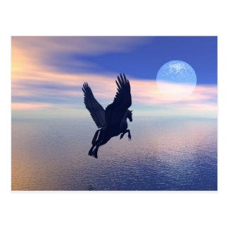 Fliegen Pegasus im blauen Himmel Postkarte