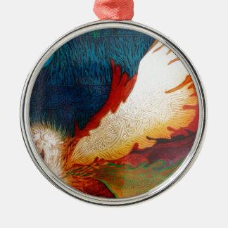 Fliegen-Pferd 2 Silbernes Ornament