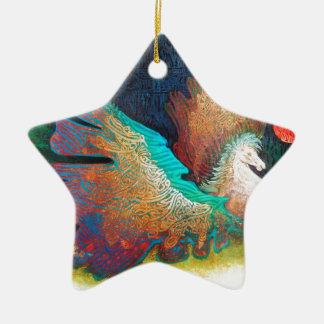 Fliegen-Pferd Keramik Ornament