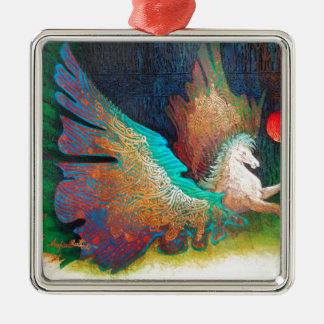 Fliegen-Pferd Silbernes Ornament
