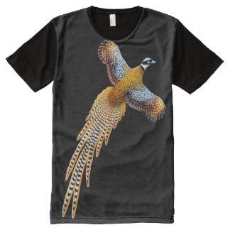 Fliegen-Reeves-Fasan ganz über Platten-Shirt T-Shirt Mit Bedruckbarer Vorderseite