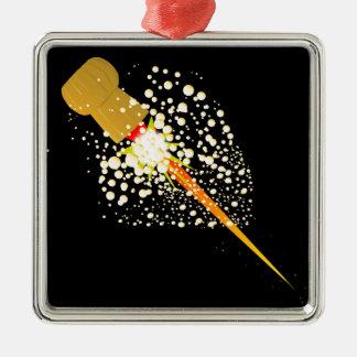 Fliegen-Rocket angetriebener Korken Silbernes Ornament