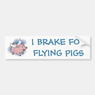 Fliegen-Schwein Autoaufkleber