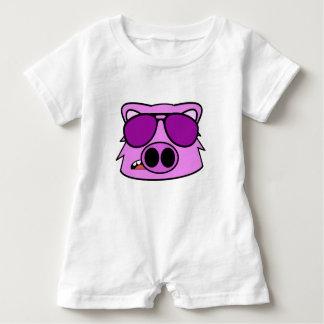 Fliegen-Schwein Baby Strampler