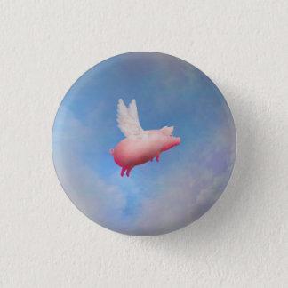 Fliegen-Schwein-Knopf Runder Button 3,2 Cm