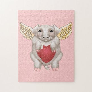 Fliegen-Schwein-Liebe Puzzle