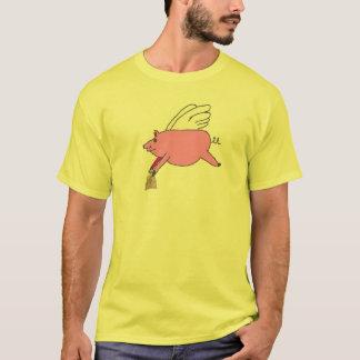 Fliegen-Schwein T-Shirt