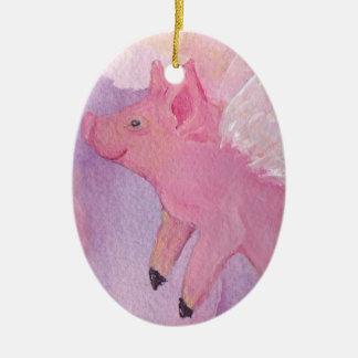 Fliegen-Schwein-Verzierung Keramik Ornament