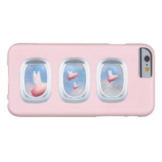 Fliegen-Schweine durch Flugzeug-Fenster Barely There iPhone 6 Hülle
