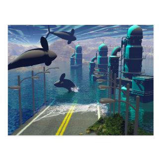 Fliegen-Schwertwale Postkarte
