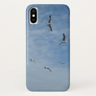 Fliegen-Seemöwen iPhone X, kaum TherePhoneCase iPhone X Hülle