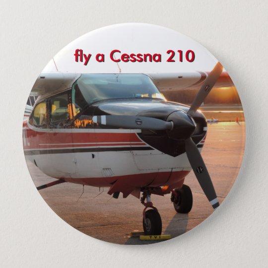 fliegen Sie einen Knopf Cessnas 210 Runder Button 10,2 Cm