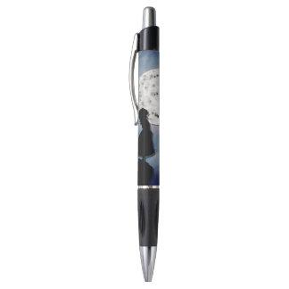fliegen Sie mich zum Mondpapier-Schnittuniversum Kugelschreiber