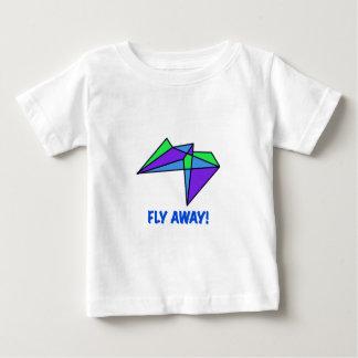 FLIEGEN Sie WEG, das befleckte Glas, abstrakt, Baby T-shirt