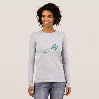 Fliegen-Spitze Langarm T-Shirt