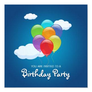 Fliegen steigt Geburtstags-Party Einladung im