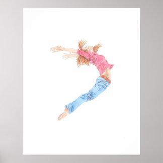 Fliegen-Tänzer Poster