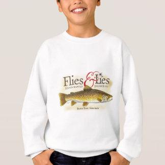Fliegen-u. Lügen-Bachforelle Sweatshirt