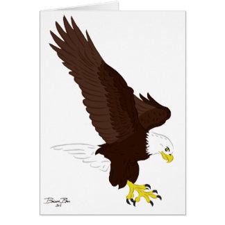 Fliegen-Weißkopfseeadler Grußkarte