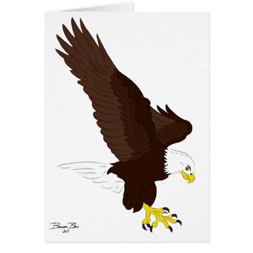 Fliegen-Weißkopfseeadler Karte