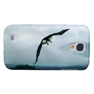 Fliegen-Weißkopfseeadler u. nebelhafte Bäume 2, Galaxy S4 Hülle