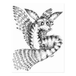 Fliegen-Wüste Vulpix Postkarte