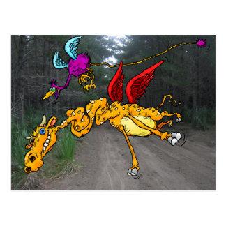 Fliegen-Zoo Postkarte