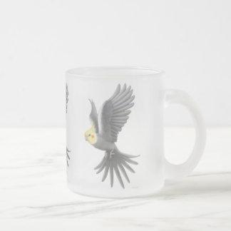 Fliegencockatiel-Tasse Matte Glastasse