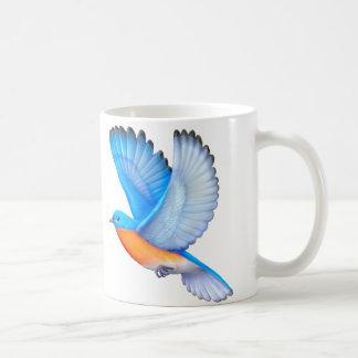 Fliegende Ostdrossel-Vogelkunst-Tasse Kaffeetasse