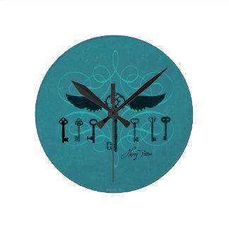 Fliegende Schlüssel Harry Potter-Bann-| Runde Wanduhr