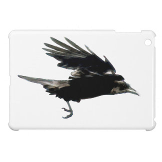 Fliegende schwarze Krähen-Tier-Kunst iPad Mini Hülle