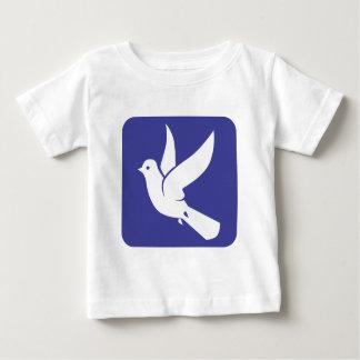 Fliegende Taube der Friedensikone Baby T-shirt
