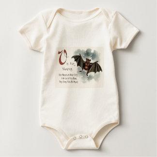 Fliegender alberner Goofy Vampire-Schläger Baby Strampler