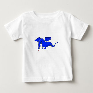 Fliegender blaues Feuer-atmendrache Baby T-shirt