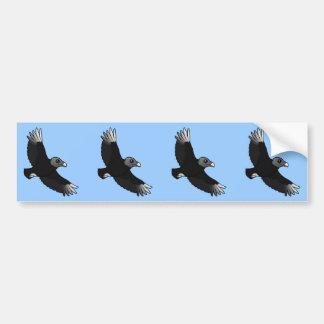 Fliegender schwarzer Geier Autoaufkleber
