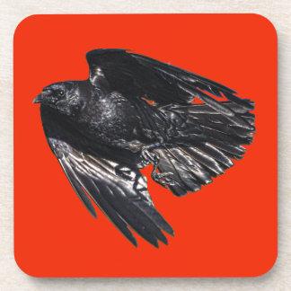 Fliegender schwarzer Rabe Krähe-Liebhaber Getränkeuntersetzer