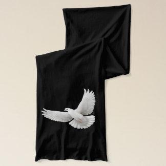 Fliegender weißer Friedenstauben-Schal Schal