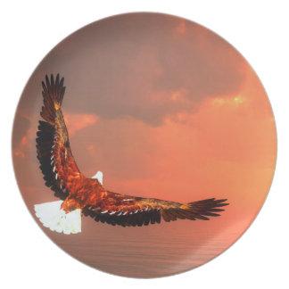 Fliegendes Eagle - 3D übertragen Melaminteller
